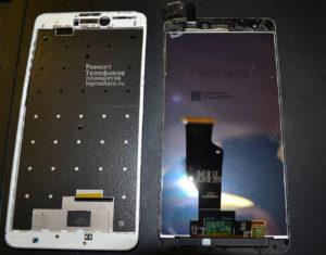 Xiaomi Redmi Note 4x рамка дисплея со снятым модулем экрана