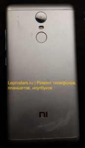 Xiaomi Redmi Note 3 вид со стороны задней крышки