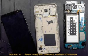 Samsung j600 (J6 2018) вид после разборки