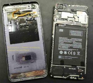 Ремонт телефона Xiaomi Redmi Note 5A Prime вид после снятия задней крышки