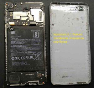 Xiaomi Redmi Note 5A (MDG6) вид после открытия задней крышки
