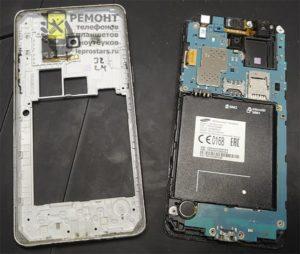 Samsung g531 вид после после расклейки корпуса