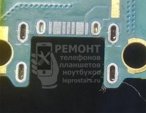 Samsung g531 выпайка и зачистка контактной группы разъёма, подготовка к установке нового разъёма
