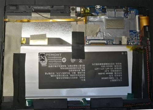 Вид на плату после открытия корпуса планшета ALLDOCUBE M5XS