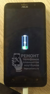 Смартфон Asus Zenfone Go (zb551kl) проверка после замены разъёма - всё в порядке, устройство заряжается
