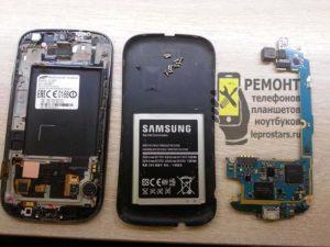 Смартфон Samsung S3 i9300 вид после разборки корпуса