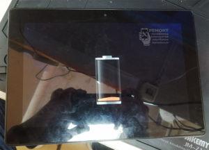 Lenovo S6000-H вид с лицевой стороны, ремонт завершен, устройство исправно, нормально заряжается.