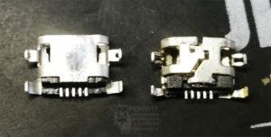 """Lenovo S6000-H старый разъём """"раскрылся"""" вдоль шва. Запаиваем на новом, для предотвращения повторения дефекта."""