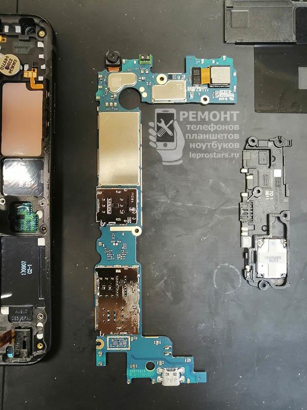LG Q6 (m700) вид на материнскую плату, сторона А