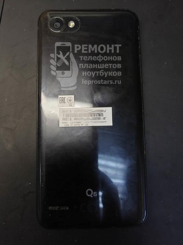 LG Q6 (m700) вид со стороны задней крышки