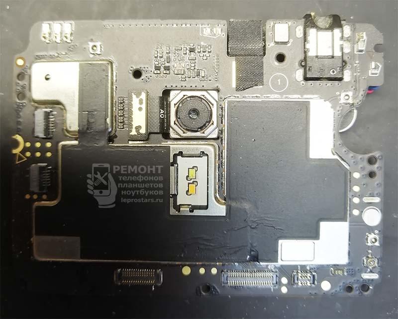 Meizu M3 Note (l681h) вид на материнскую плату, сторона А