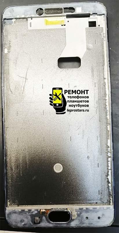 Meizu M3 Note (l681h) снимаем старый модуль экрана и очищаем рамку перед вклеиванием нового модуля