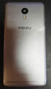 Meizu M3 Note (l681h) вид со стороны задней крышки