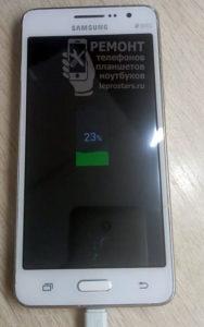 Samsung g531 вид с лицевой стороны на исправный телефон после ремонта
