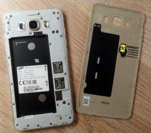 Samsung J7 2016 (j710) - вид после снятия задней крышки