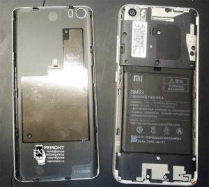 Xiaomi Mi5 вид после раскрытия корпуса
