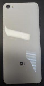 Xiaomi Mi5 вид со стороны задней крышки