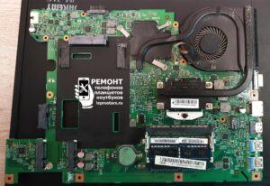 Чистка ноутбука Asus X751L - вид на материнскую плату со стороны процессора